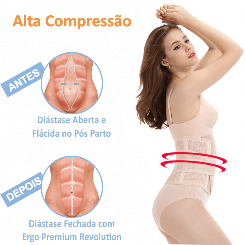 Cinta Original® Ergo Press de Alta Compressão Abdominal