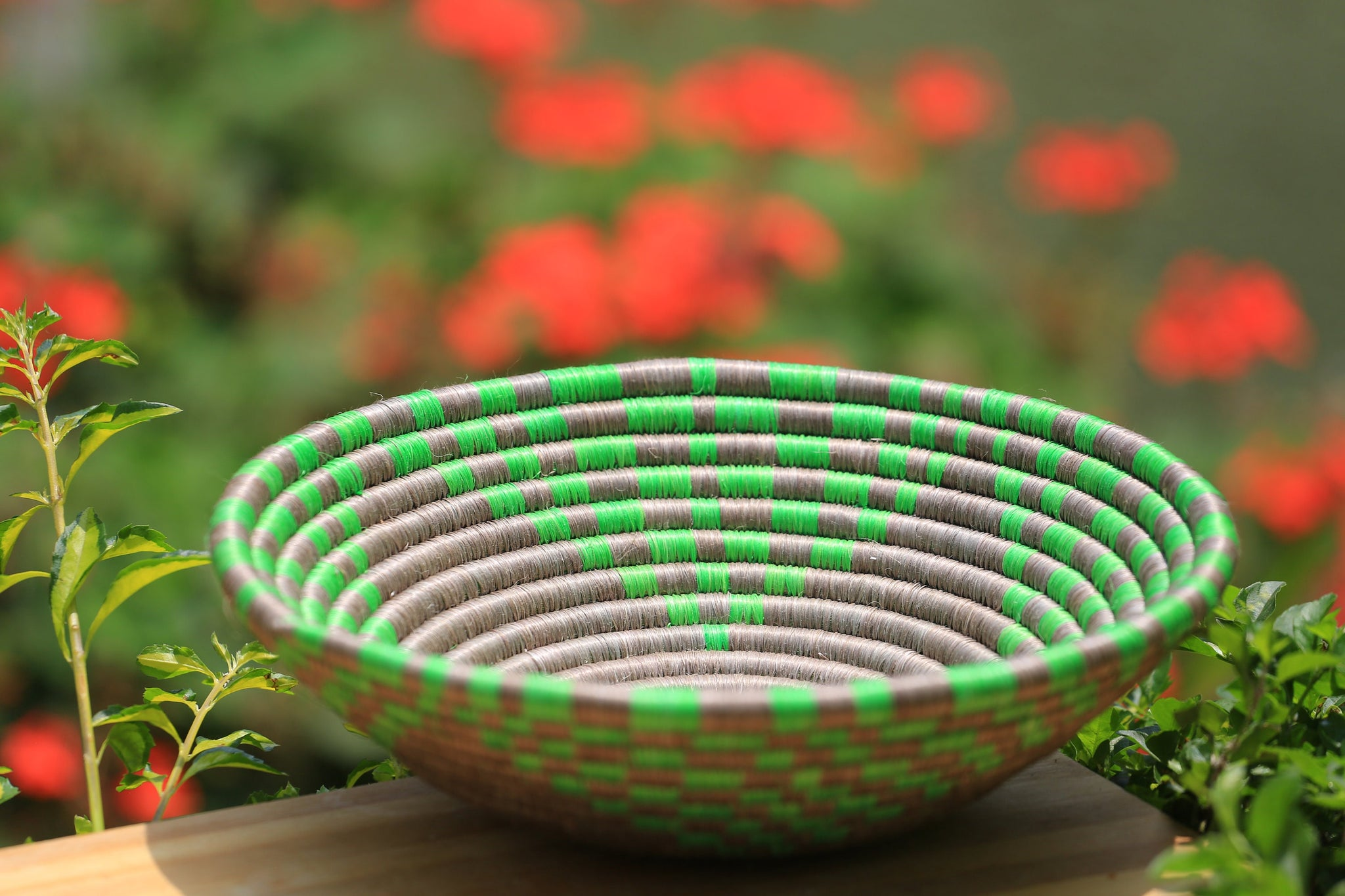 Tokwe African Wall Basket, Rwanda baskets, African Woven basket,  Green and sand - African Baskets , African Basket , Rwanda Baskets , Wall baskets Woven Basket