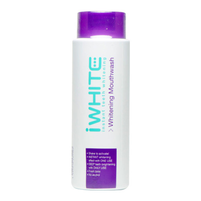iwhite, iwhite mouthwash, brighter smile, teeth whitening, clinically proven, instant, remove stains, no sensitivity, no hydrogen peroxide
