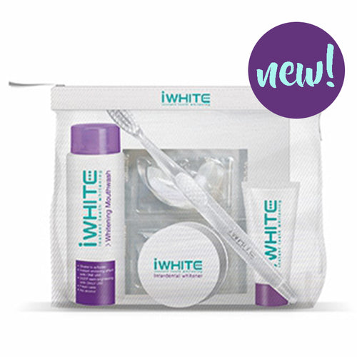 iwhite, iwhite travel pack, iwhite instant mouthwash, iwhite toothbrush, iwhite toothpaste, iwhite whitener, iwhite blister pack, brighter smile, iwhite mini, original, no sensitivity, no hyfrogen peroxide