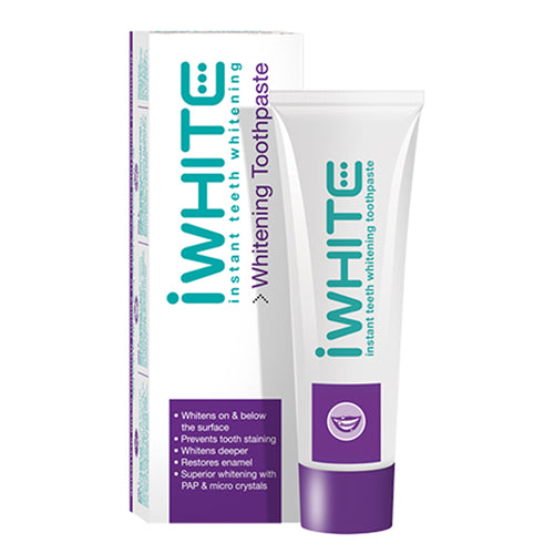 iwhite, iwhite toothpaste, brighter smile, teeth whitening, clinically proven, instant, remove stains, no sensitivity, no hydrogen peroxide