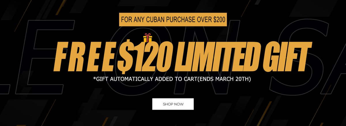 NEW CUBAN FOR NEW SEASON ($30 OFF OVER $200)