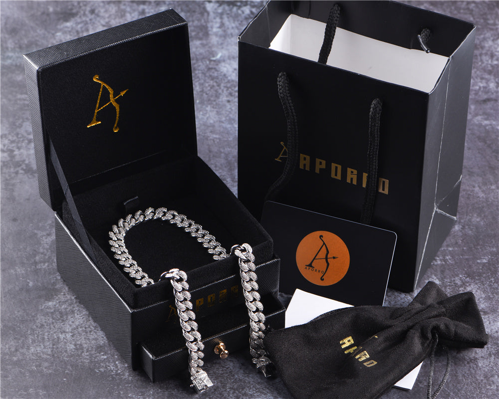 Aporro-cool hip hop jewelry tennis chain