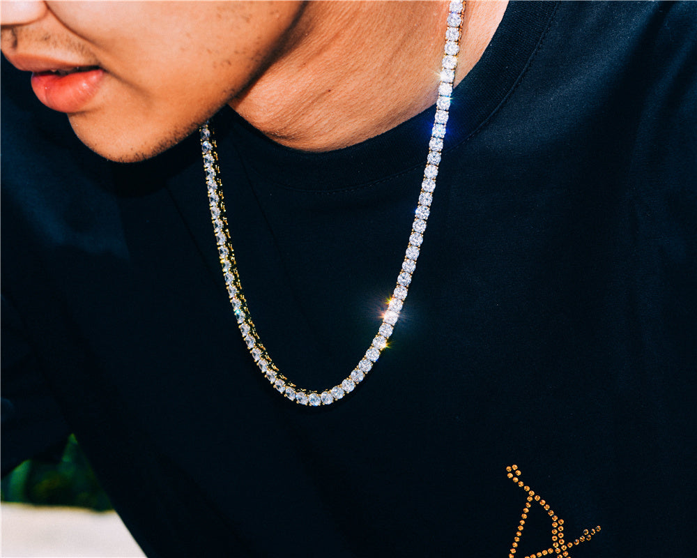 Aporro-fashion iced out tennis chain