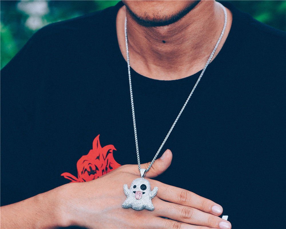 Aporro-Hip Hop-White Gold Iced Out Pendant