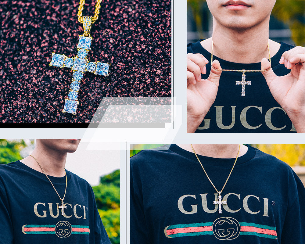 Aporro-street style iced out tennis chain jewelry