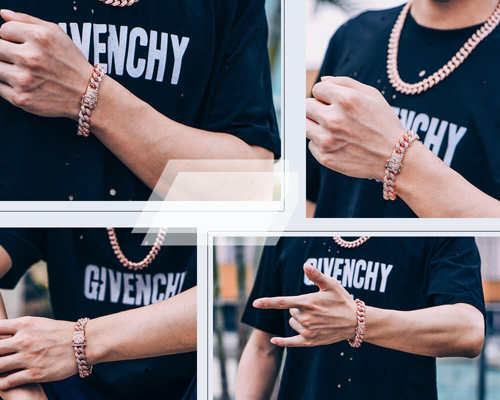 iced out cuban link bracelets Aporro