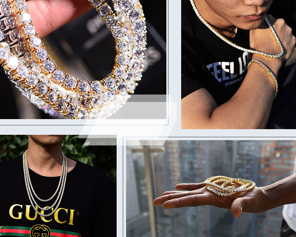 Aporro-cool iced out tennis chain