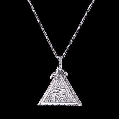White Gold Eye of Horus Micro-Pendant