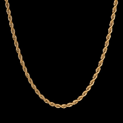 4.5mm 14k Gold Rope Chain