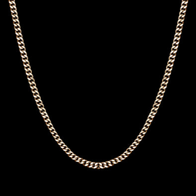 5mm 14k Gold Miami Micro Cuban Curb Chain