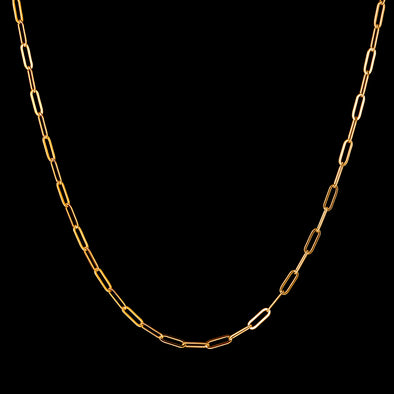 3mm 14k Gold Paper Clip Chain