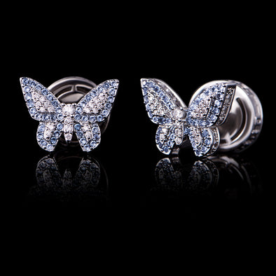 Aporro Butterfly Stud Earrings