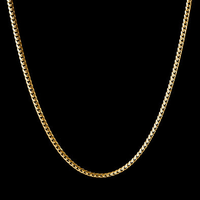 5mm Miami Micro Cuban Chain in 925 Sterling Silver (Yellow Gold)