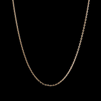 3mm Cable Chain in 925 Sterling Silver (Yellow Gold)