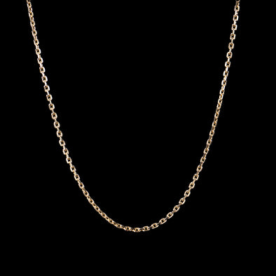 4mm Cable Chain in 925 Sterling Silver (Yellow Gold)