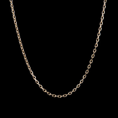4.5mm Cable Chain in 925 Sterling Silver (Yellow Gold)