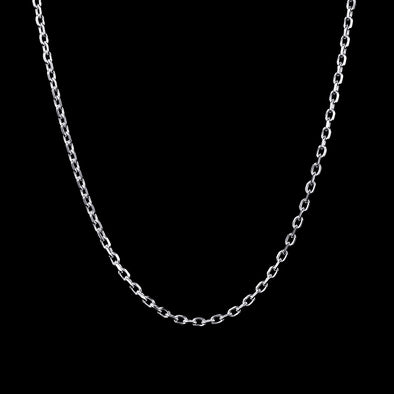 4.5mm Cable Chain in 925 Sterling Silver (White Gold)