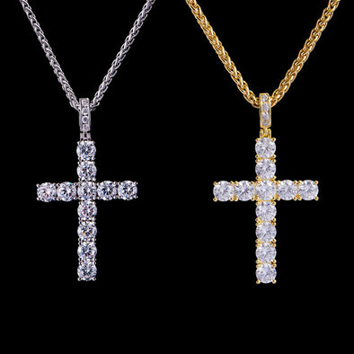 Tennis Cross Pendants Set