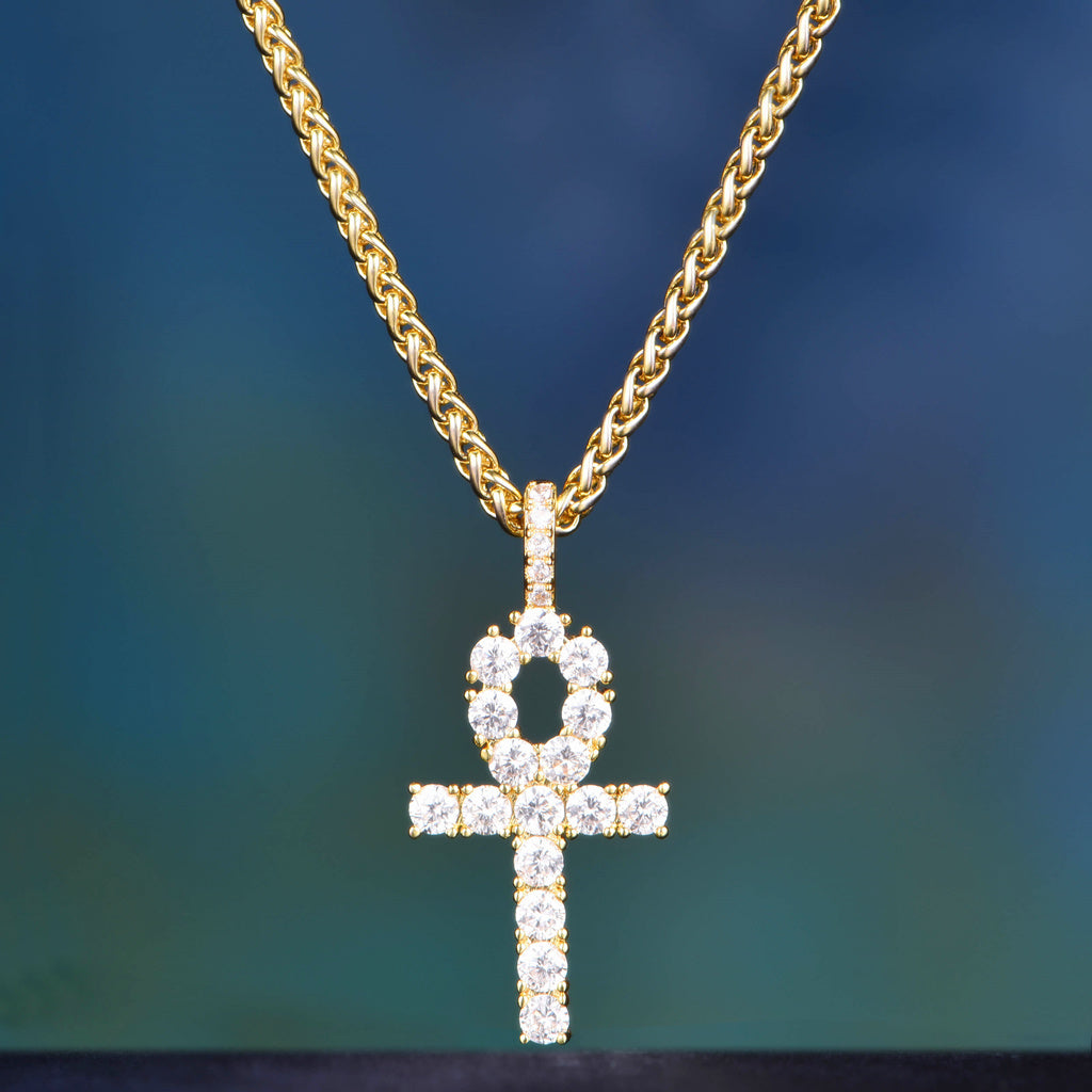 Ship now 14k gold iced out ankh aporro brand 14k gold iced out ankh aloadofball Image collections