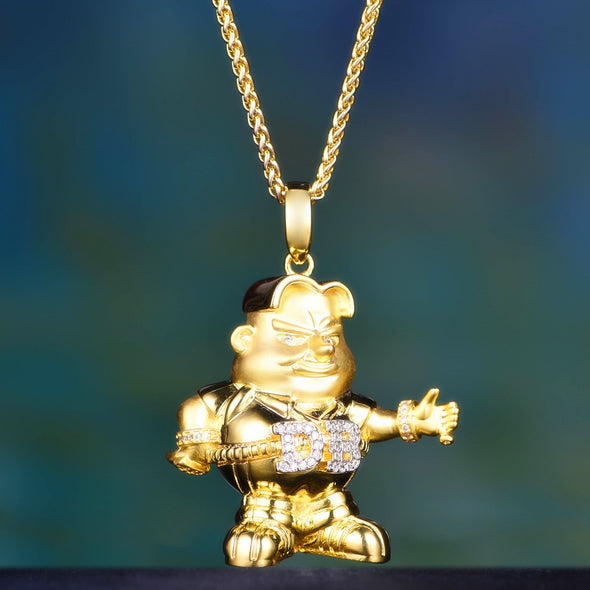 Discounted 14K Gold Iced Out D-boy