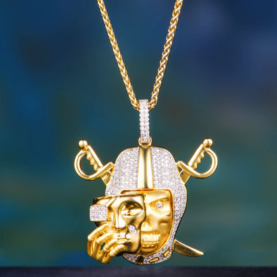 14K Gold Iced Mask Off
