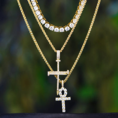 Aporro-stylist hip hop jewelry iced out tennis chain
