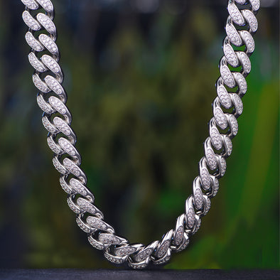 white gold cuban link chain Aporro