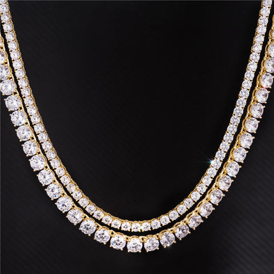 5mm Tennis Chain+8mm Tennis Chain Set