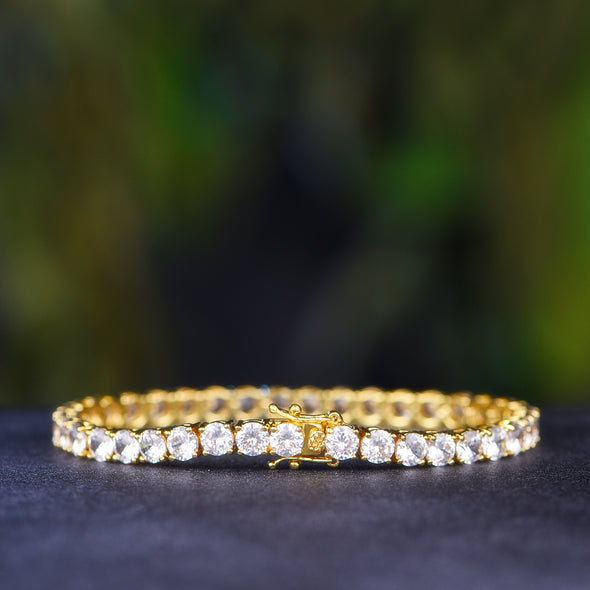 5mm 14K Gold Tennis Bracelet