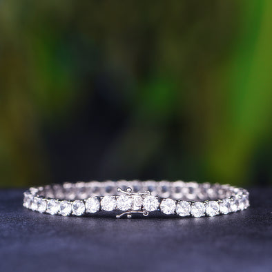 Aporro-fashion white gold tennis bracelets