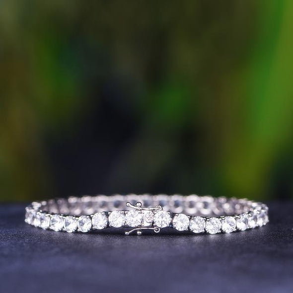 5mm White Gold Tennis Bracelet-1st version