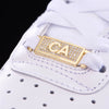 "Iced California ""CA"" Lace Lock In Sterling Silver"