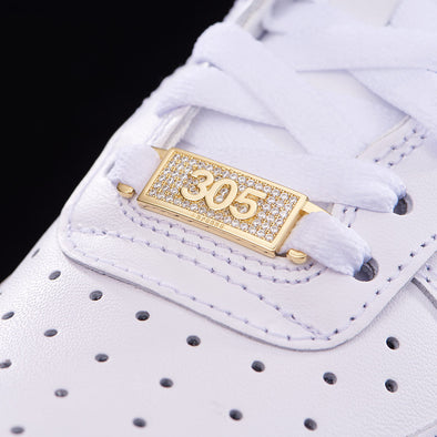 "Iced Miami ""305"" Lace Lock In Sterling Silver"