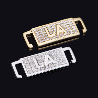 "Iced Los Angeles ""LA"" Lace Lock In Sterling Silver"