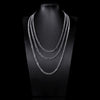 5mm White Gold Miami Micro Cuban Curb Chain