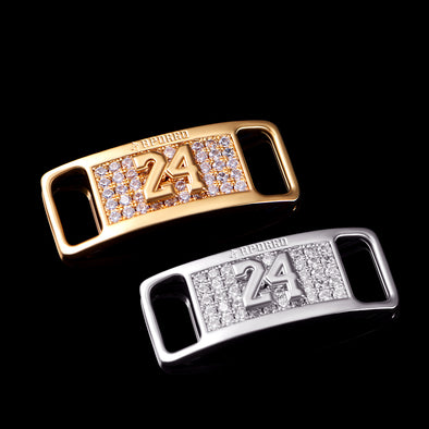 "Iced Out Number ""24"" Lace Lock"