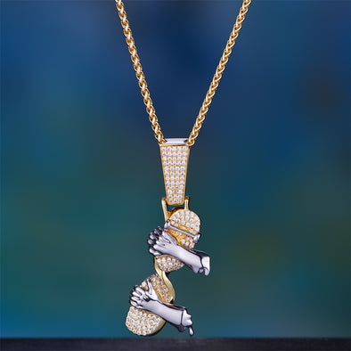 Iced Out Twisted Skateboard Pendant