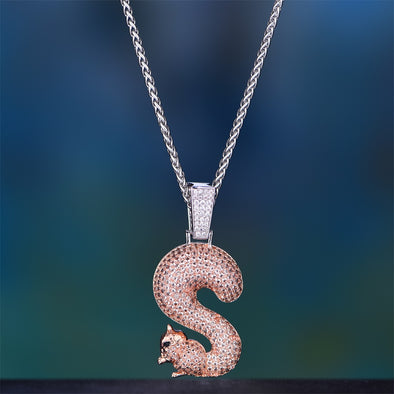 Iced Out Squirrel S Pendant
