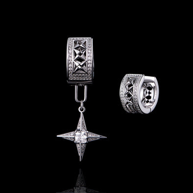 APORRO Iced Out Detachable Motif Dangly Earring (Short)-Ship Out on Oct 9th