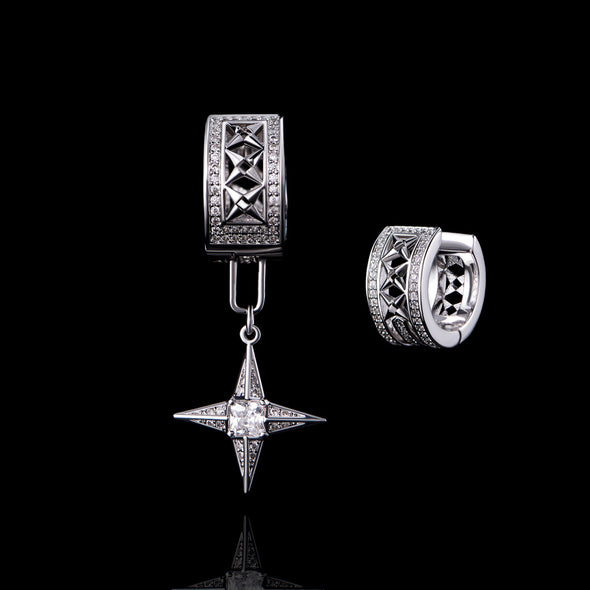 APORRO Iced Out Detachable Motif Dangly Earring (Short)