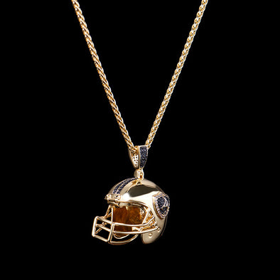 14K Gold Football Helmet