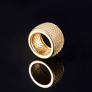 14K Gold Iced Dragon Scale Ring