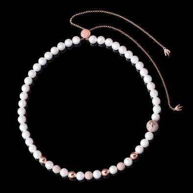 WONG-Rose Gold Dragon Pearl and Bead Adjustable Necklace (Pre-sale)