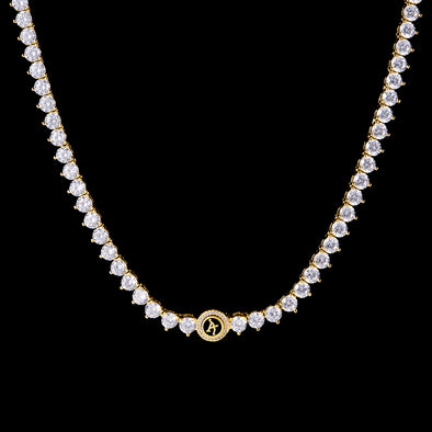 14K Gold Aporro A® Iced 3-Prong Tennis Chain (Pre-sale)