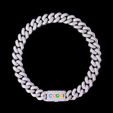 "APORRO X COOGI 19mm White Gold ""BASIC"" Cuban Chain"
