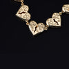 14K Gold Iced Broken Heart Chain