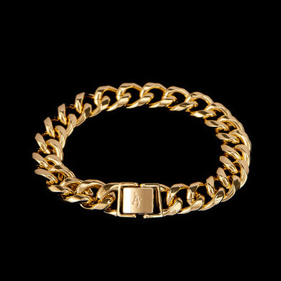 12mm 14K Gold Miami Cuban Bracelet