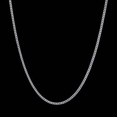 3.5mm White Gold Miami Micro Cuban Curb Chain