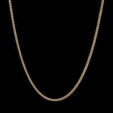 3.6mm 14K Gold Miami Cuban Curb Chain